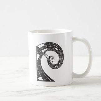 Camino espiral tazas de café