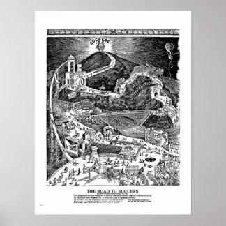 CAMINO famoso al poster del ÉXITO celebración de 1