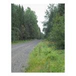 Camino forestal plantillas de membrete