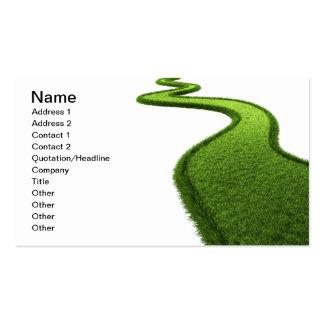 Camino herboso tarjetas de visita