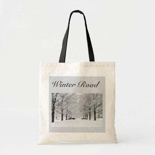 Camino hivernal bolsa tela barata