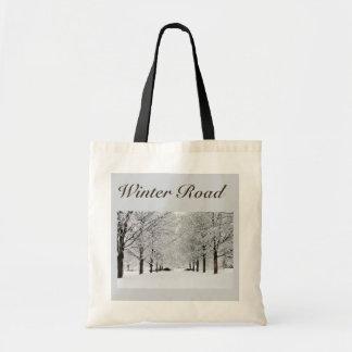 Camino hivernal bolsas de mano