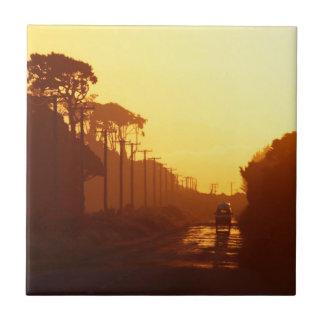 Camino ideal de la puesta del sol teja  ceramica
