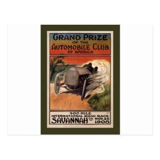 Camino internacional Race~Savannah 1908 del ~ de 4 Postales
