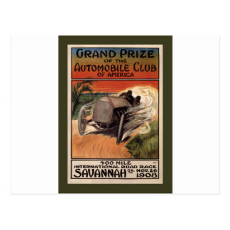 Camino internacional Race~Savannah 1908 del ~ de Tarjeta Postal