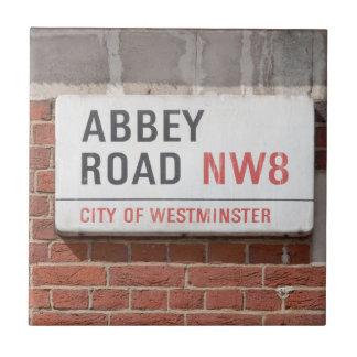 Camino Londres de la abadía Azulejo Cuadrado Pequeño