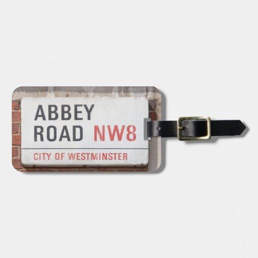 Camino Londres de la abadía Etiquetas Bolsas