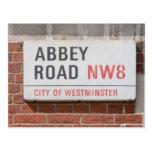 Camino Londres de la abadía Tarjeta Postal