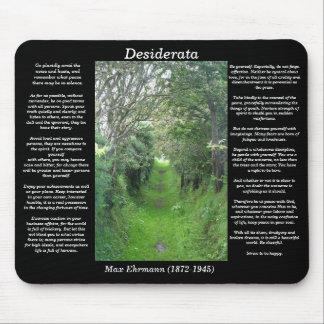 Camino Mousepad de la hierba de los DESIDERÁTUMS
