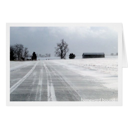 Camino nevado Notecard Tarjeta Pequeña