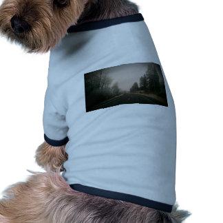 camino nevoso camiseta de mascota