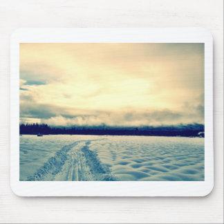 camino nevoso tapetes de raton