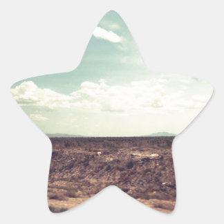 Camino occidental pegatina en forma de estrella