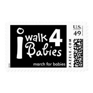 camino para el franqueo de los bebés
