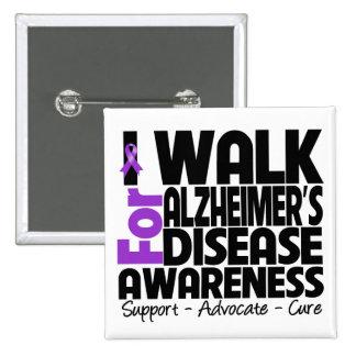 Camino para la conciencia de la enfermedad de Alzh Pin Cuadrado