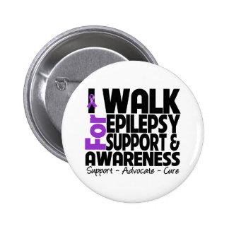 Camino para la conciencia de la epilepsia pin redondo de 2 pulgadas