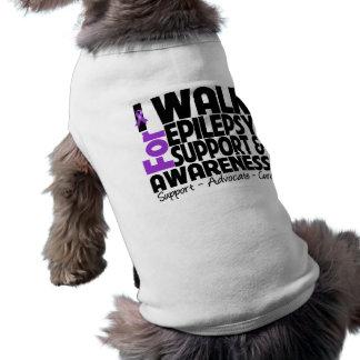 Camino para la conciencia de la epilepsia playera sin mangas para perro