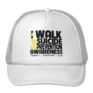 Camino para la conciencia de la prevención del sui gorra