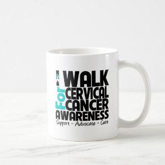 Camino para la conciencia del cáncer de cuello del taza