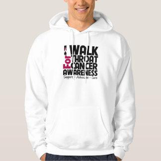 Camino para la conciencia del cáncer de garganta jersey encapuchado