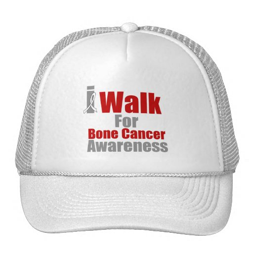 Camino para la conciencia del cáncer de hueso gorros