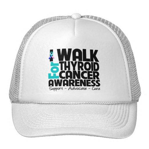Camino para la conciencia del cáncer de tiroides gorros