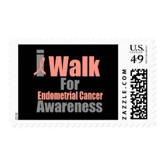 Camino para la conciencia del cáncer endometrial sellos