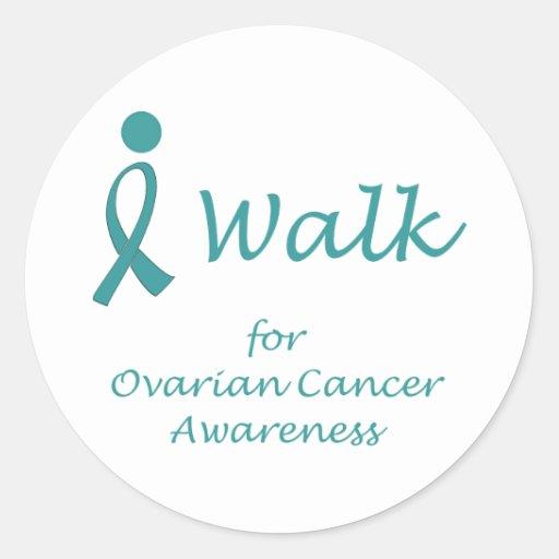 Camino para la conciencia del cáncer ovárico etiqueta