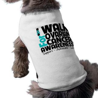 Camino para la conciencia del cáncer ovárico playera sin mangas para perro