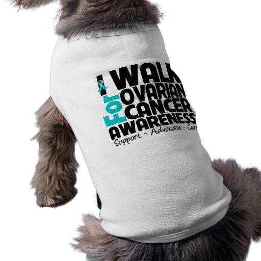 Camino para la conciencia del cáncer ovárico camisetas de perro