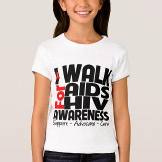Camino para la conciencia del VIH del SIDA Polera