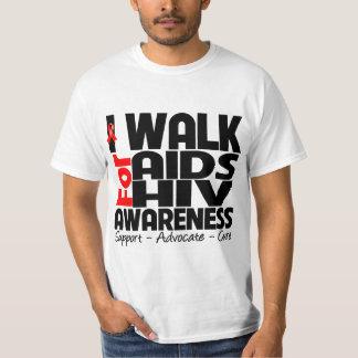 Camino para la conciencia del VIH del SIDA Poleras