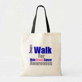 Camino para la conciencia masculina del cáncer de  bolsas lienzo