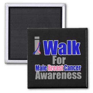 Camino para la conciencia masculina del cáncer de  imán de frigorifico
