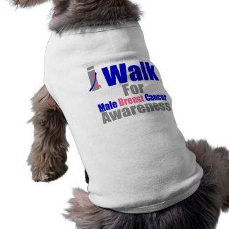 Camino para la conciencia masculina del cáncer de  camisetas de perrito