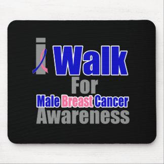 Camino para la conciencia masculina del cáncer de  alfombrillas de ratones