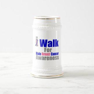 Camino para la conciencia masculina del cáncer de  taza de café