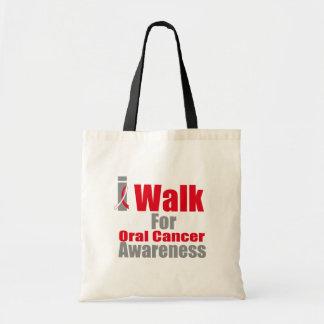 Camino para la conciencia oral del cáncer bolsa tela barata