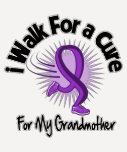 Camino para mi abuela - cinta púrpura camisetas