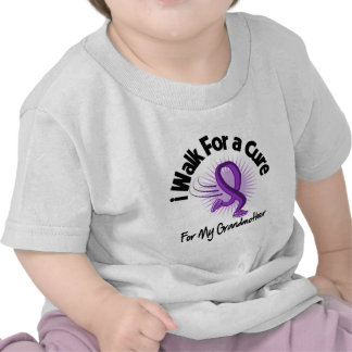 Camino para mi abuela - cinta púrpura camiseta