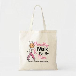 Camino para mi cáncer de pecho de la mamá SFT Bolsas De Mano