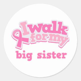Camino para mi hermana grande pegatina redonda