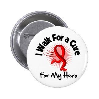 Camino para mi héroe - enfermedad cardíaca pin redondo de 2 pulgadas