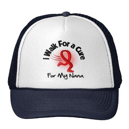 Camino para mi Nana - enfermedad cardíaca Gorros Bordados