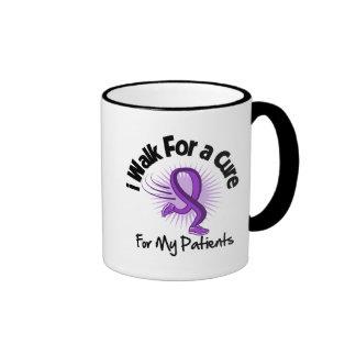 Camino para mis pacientes - cinta púrpura tazas de café
