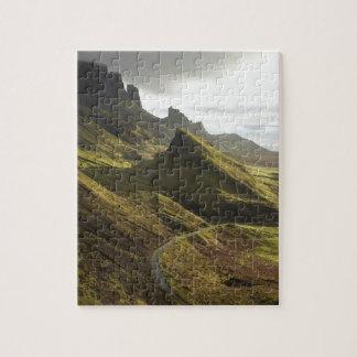 Camino que asciende el Quiraing, isla de Skye, Puzzle