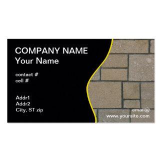 camino rectangular del bloque plantillas de tarjeta de negocio