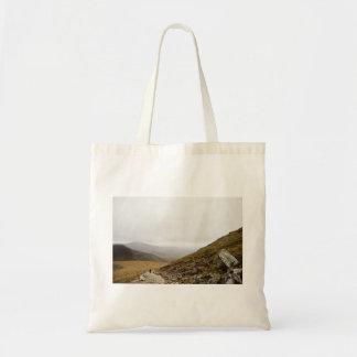 Camino rocoso de la montaña bolsa tela barata