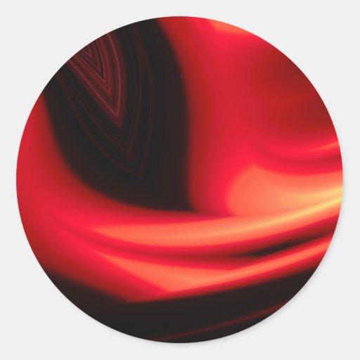 Camino rojo - extracto moderno etiqueta redonda