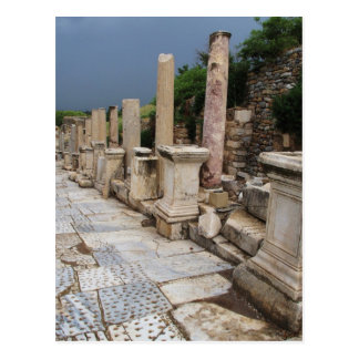 Camino romano antiguo en la ciudad de Ephesus, Tarjeta Postal